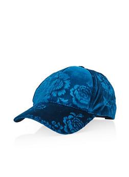 Floral Velvet Baseball Hat - 3129067447101