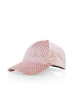 Velvet Chevron Baseball Hat - 3129067447102
