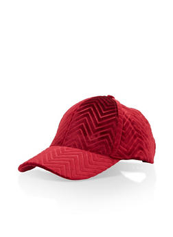 Velvet Chevron Baseball Hat - 3129067447102