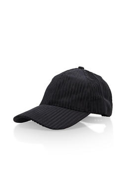Velvet Striped Baseball Hat - 3129067447103