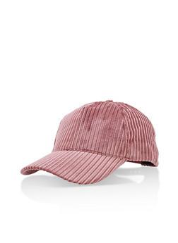 Velvet Striped Baseball Hat - 3129067447103
