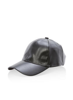 Faux Leather Chain Detail Baseball Hat - 3129067447111