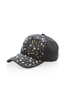Satin Rhinestone Embellished Baseball Hat - 3129067447113