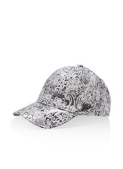 Jacquard Lurex Baseball Hat - 3129067447116
