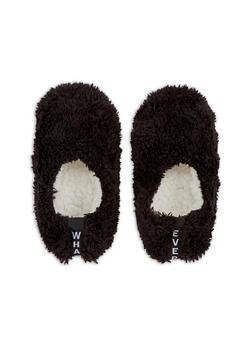 Furry Slipper Socks - BLACK - 3130055324091