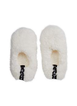 Furry Slipper Socks - IVORY - 3130055324091