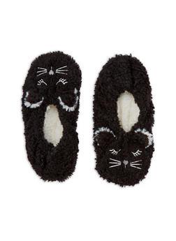 Furry Animal Slipper Socks - BLACK - 3130055324281