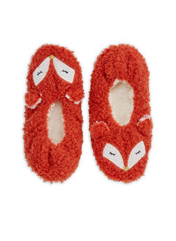 Furry Animal Slipper Socks - ORANGE - 3130055324281