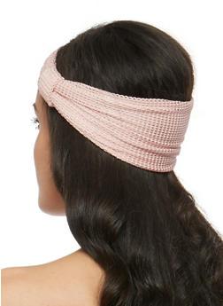 Waffle Knit Knotted Headband - 3131018433750