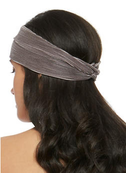 Silk Pleat Knotted Headband - 3131018433806