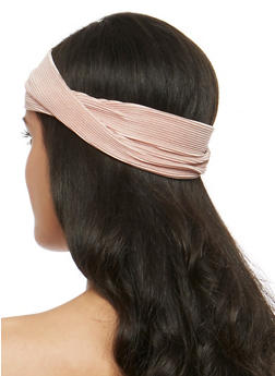 Silk Pleat Knotted Headband - 3131018433806
