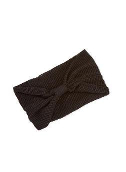 Waffle Knit Headwrap - BLACK - 3131018435573