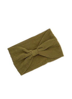 Waffle Knit Headwrap - OLIVE - 3131018435573