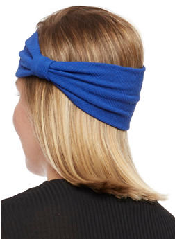Soft Knit Big Bow Head Wrap - 3131018439706