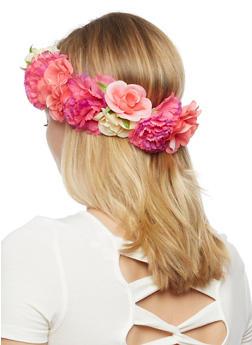 Mixed Flower Garland Headband - 3131018492832
