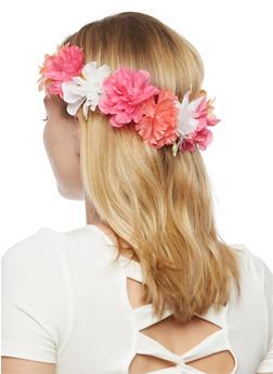 Mixed Carnation Flower Headband - 3131018495083