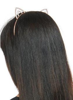 Rhinestone Cat Ears Headband - 3131059632144