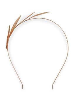 Metallic Leaf Headband - 3131059632251