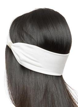 Set of Two Satin Headwraps with Rhinestone Detail - 3131063090348