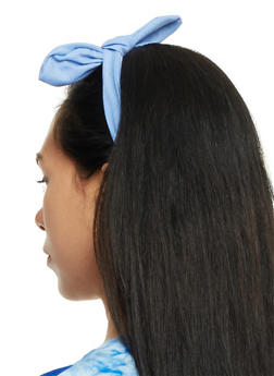 Denim Headband with Bow - 3131063090825