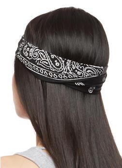 Bandana Print Headband - 3131063090846