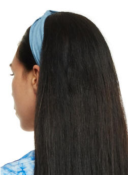 Set of 2 Knotted Denim Headbands - 3131063091122