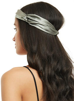 Satin Knotted Headband - 3131067251466