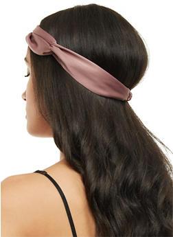 Satin Knotted Headband - 3131067251466