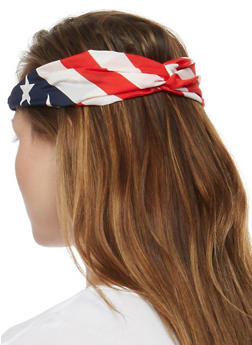 2 Piece Americana and Braided Headband Set - 3131067254121