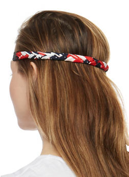 Braided Stretch Headband Duo - 3131067254174