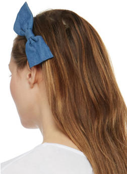 Cinched Elastic Headband Set with Bow Accent - 3131067255691