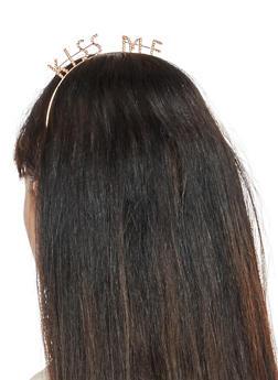 Kiss Me Rhinestone Headband - 3131074173274