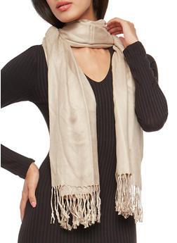 Pashmina Scarf with Fringe - 3132051441000