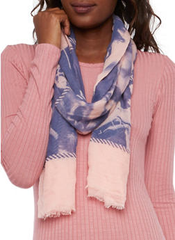 Guazy Scarf with Glamour Girl Print - CORAL - 3132067445073