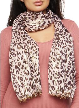 Leopard Print Shimmer Scarf - 3132067447047