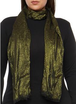 Shimmer Knit Scarf - BLACK/GOLD - 3132067447049