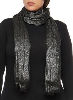 Shimmer Knit Scarf - SILVER/BLACK - 3132067447049