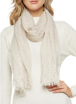 Sequin Knit Scarf - 3132067447050
