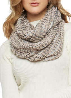 Two Tone Woven Infinity Scarf - 3132067447053