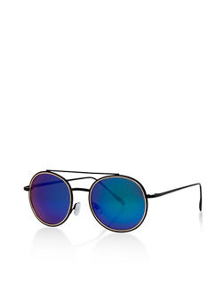 Round Top Bar Sunglasses - 3133004261092