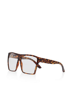 Two Tone Shield Glasses - 3133004265121