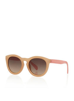 Round Color Block Sunglasses - 3133004265338