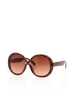 Oversized Round Sunglasses - 3133004265413