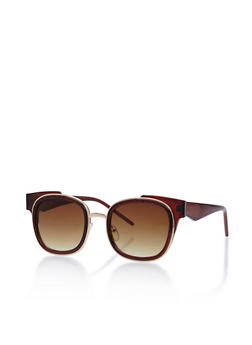 Double Frame Square Sunglasses - 3133071211440