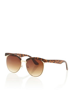 Round Browline Sunglasses - 3133071212759