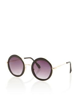 Oversized Round Sunglasses - 3133071213042