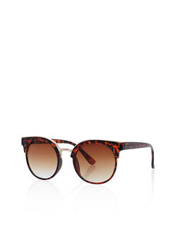 Round Browline Sunglasses - 3133071219616