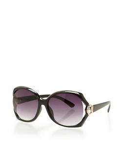 Oversized Open Side Sunglasses - 3133071219688
