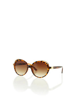Oval Sunglasses with Metallic Detail - 3133071219690
