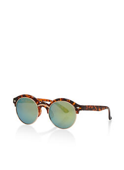 Round Double Top Frame Sunglasses - 3133072626600